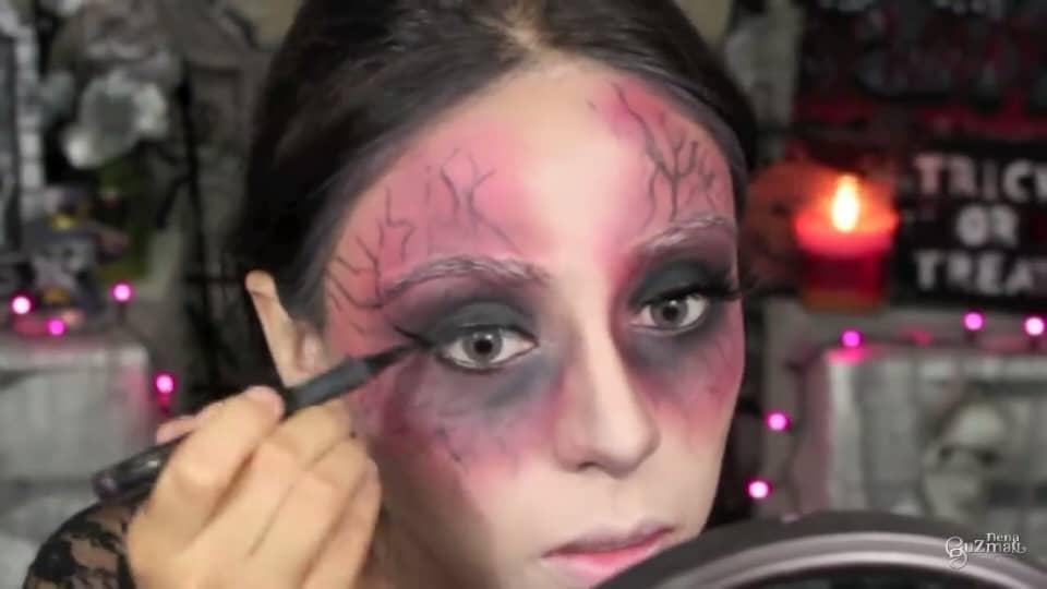 maquillaje de bruja 2020 nena guzman  delineado