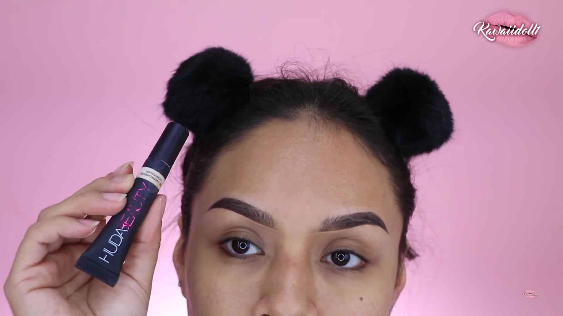maquillaje de fantasía rapunzel 2020 kawaiidoll1 corrector huda beauty.