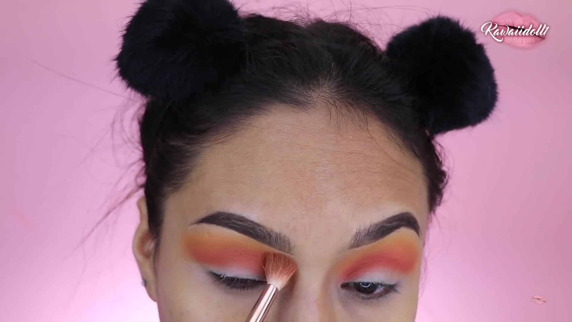 Maquillaje de fantasía Rapunzel 2020 kawaiidoll1, sombra roja,pincel plano para difuminar.