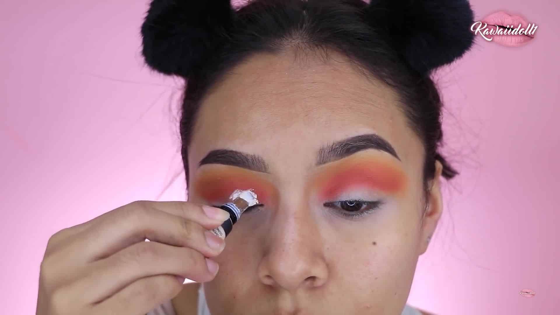maquillaje de fantasía rapunzel 2020 kawaiidoll1  corrector blanco.
