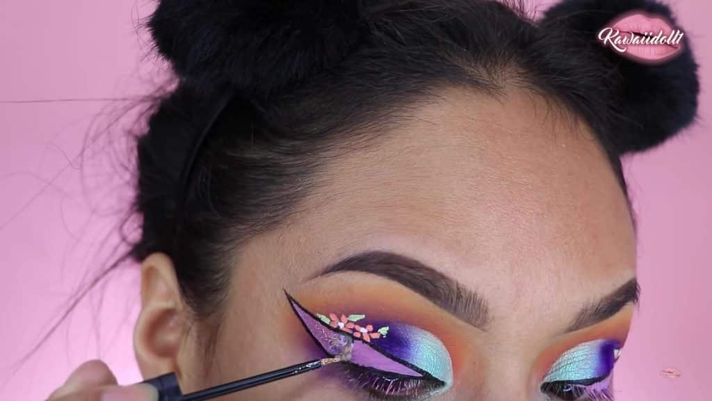 maquillaje de fantasía rapunzel 2020 kawaiidoll1 delineador transparente