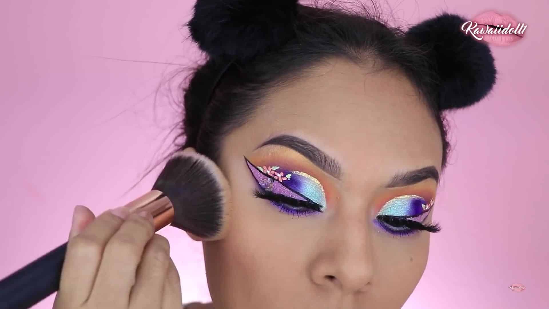 maquillaje de fantasía rapunzel 2020 kawaiidoll1 rubor y contorno