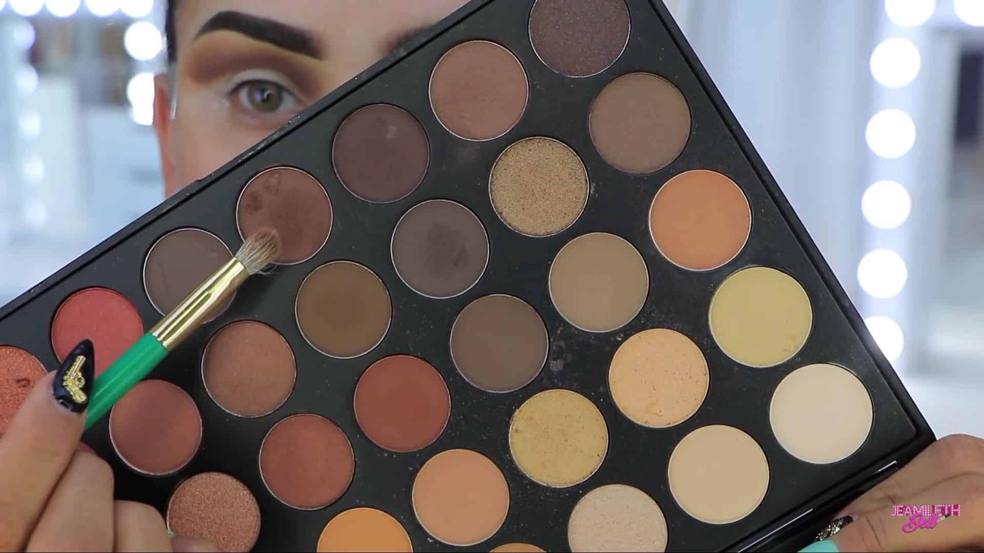 Maquillate como Jasmine facil y rapido Jeamileth Doll 2020, marrón mate para degradar el maquillaje del ojo