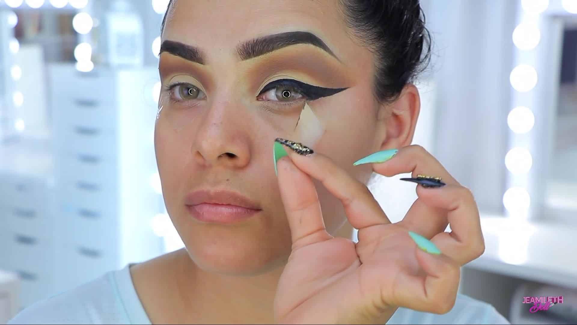 Maquillate como Jasmine facil y rapido Jeamileth Doll 2020, despegar cinya adhesiva.