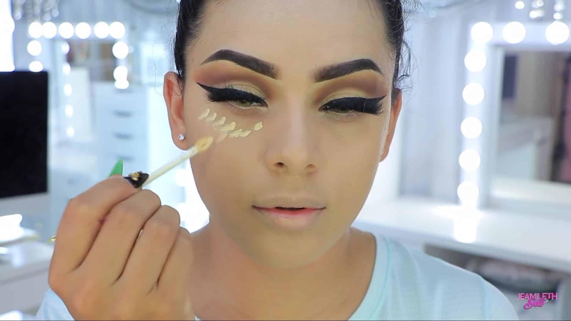 Maquillate como Jasmine facil y rapido Jeamileth Doll 2020, aplicación de corrector de ojeras