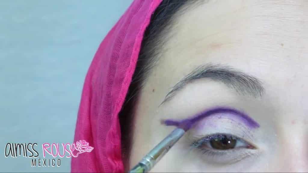 Paso a paso maquillaje Árabe almiss rouse 2020, difuminado de línea.