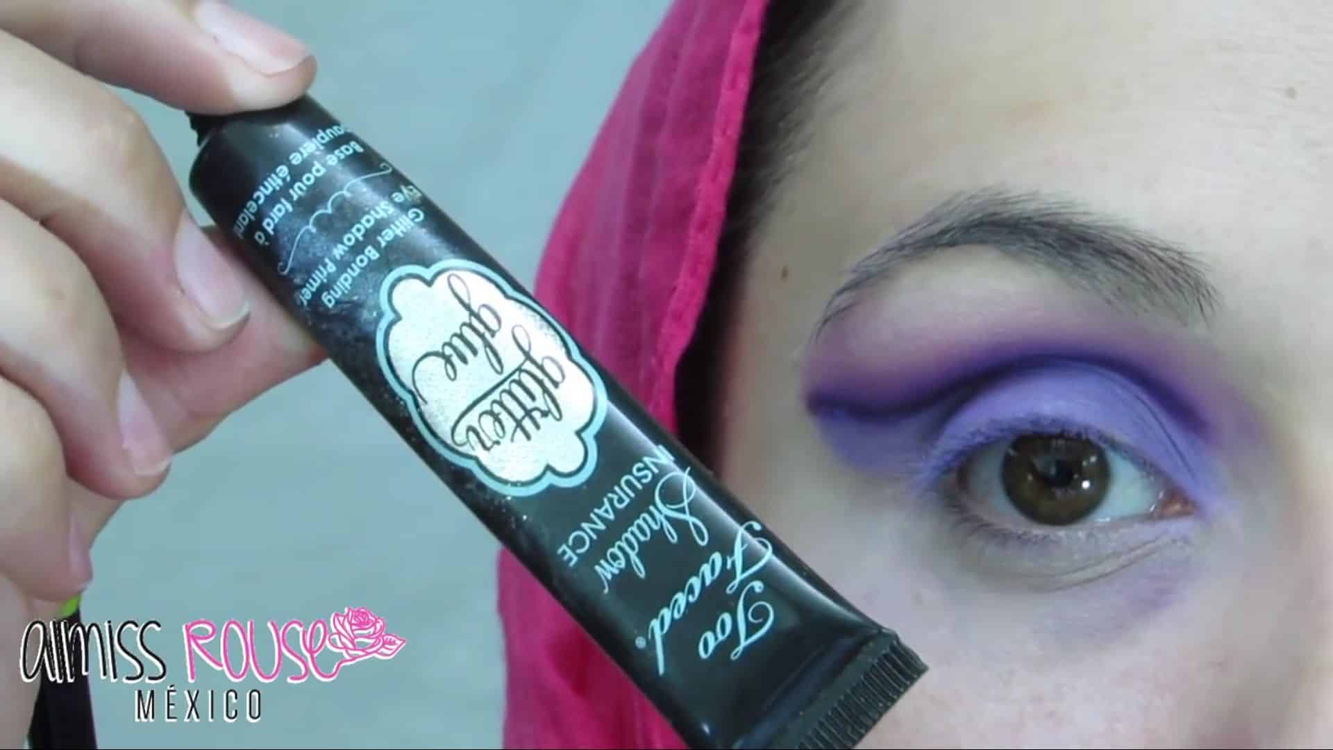 Paso a paso maquillaje Árabe almiss rouse 2020, pegamento de glitter para el párpado móvil.