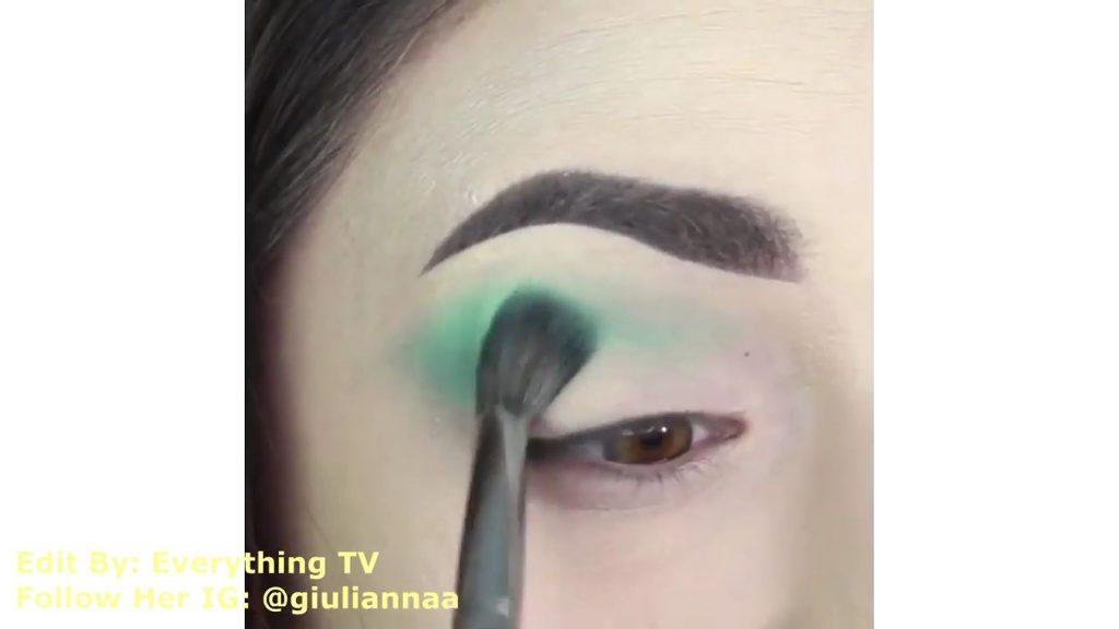 Hermosos diseños de fantasía para los ojos Samantha Hermoso 2020, sombra turquesa por la cuenca del ojo