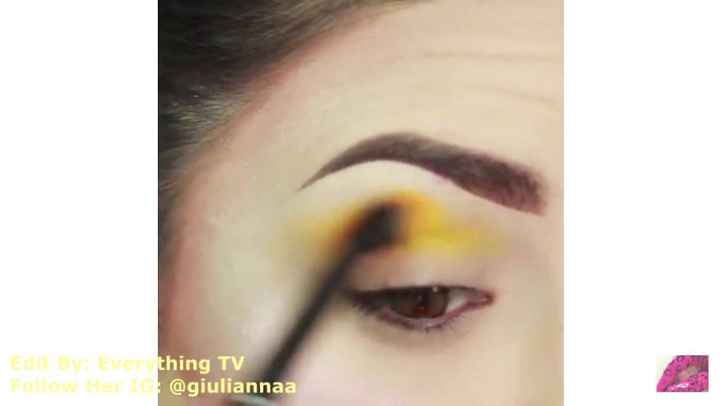 Hermosos diseños de fantasía para los ojos Samantha Hermoso 2020, sombra amarilla para la cuenca del ojo.