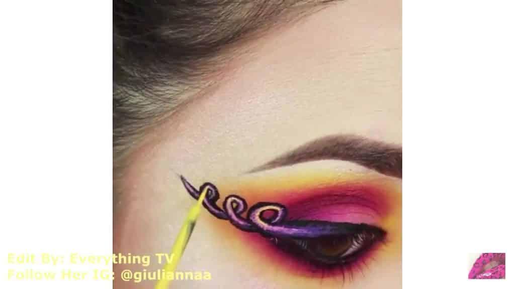 Hermosos diseños de fantasía para los ojos Samantha Hermoso 2020, DIBUJO ESPIRAL PARA EL OJO