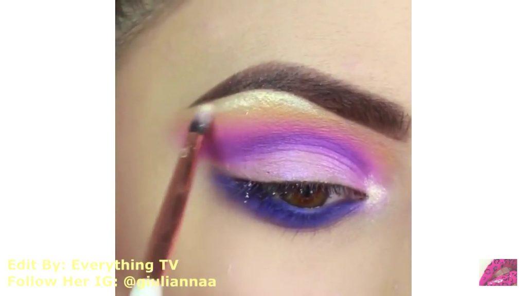 Hermosos diseños de fantasía para los ojos Samantha Hermoso 2020, brillo con sombra amarilla perlada