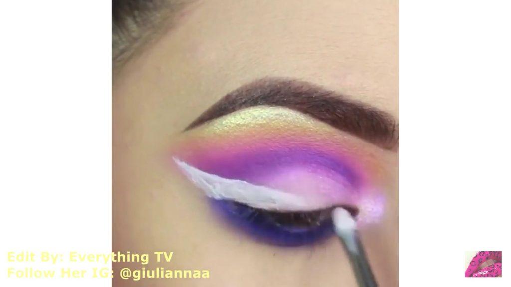 Hermosos diseños de fantasía para los ojos Samantha Hermoso 2020, delineado blanco