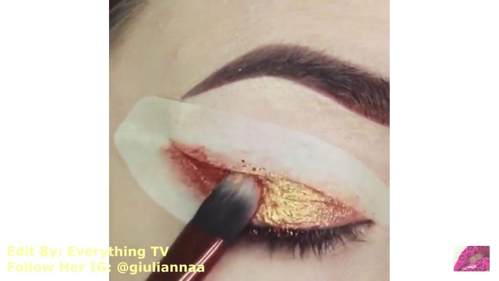 Hermosos diseños de fantasía para los ojos Samantha Hermoso 2020, sombra color cobre