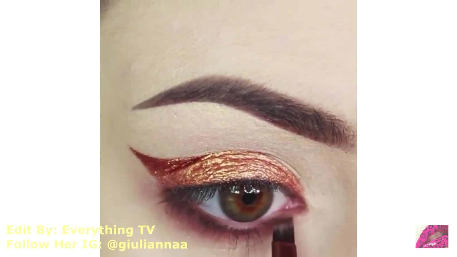Hermosos diseños de fantasía para los ojos Samantha Hermoso 2020, sombra vinotinto por debajo de la linea de agua