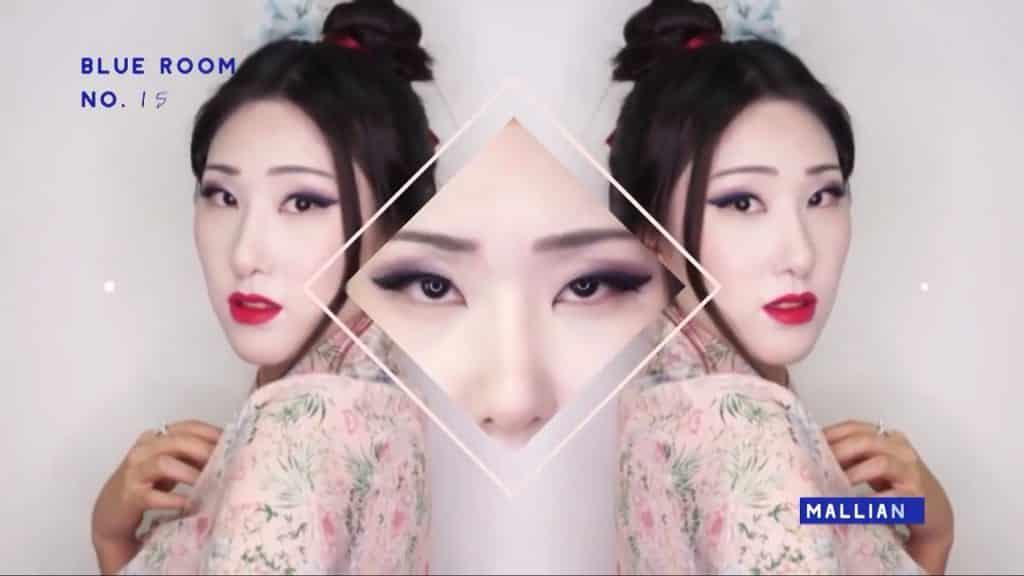 Maquíllate como la hermosa  Mulan  Liang �량� 파란방2020, resultado final peinado y maquillaje