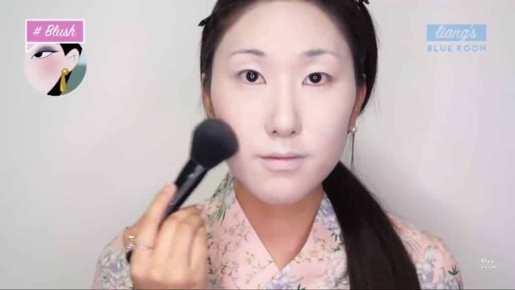 Maquíllate como la hermosa  Mulan  Liang �량� 파란방2020,  rubor