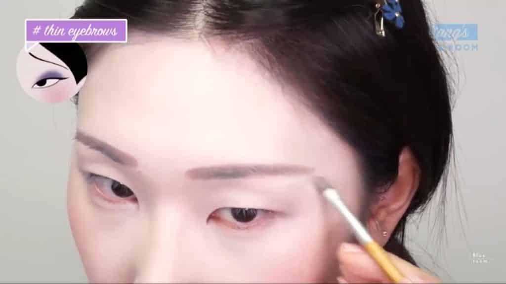Maquíllate como la hermosa  Mulan  Liang �량� 파란방2020,  cejas de mulan