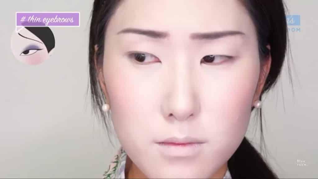 Maquíllate como la hermosa  Mulan  Liang �량� 파란방2020, cejas terminadas