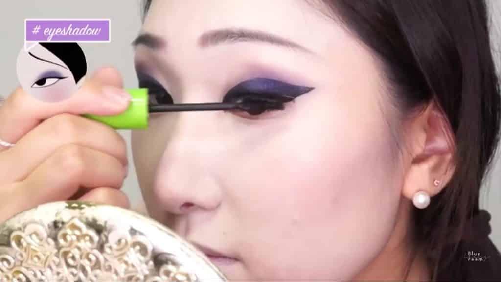 Maquíllate como la hermosa  Mulan  Liang �량� 파란방2020, mascara de pestañas