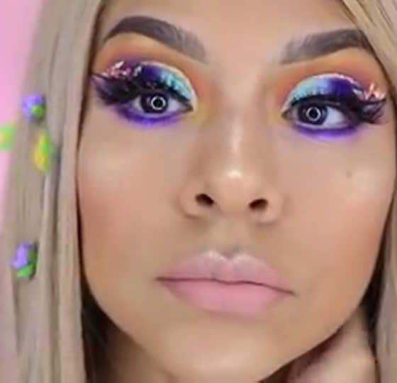 Maquillaje de fantasía inspirado en Rapunzel