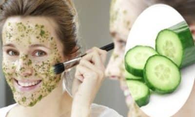 Mascarilla facial de pepino para eliminar manchas