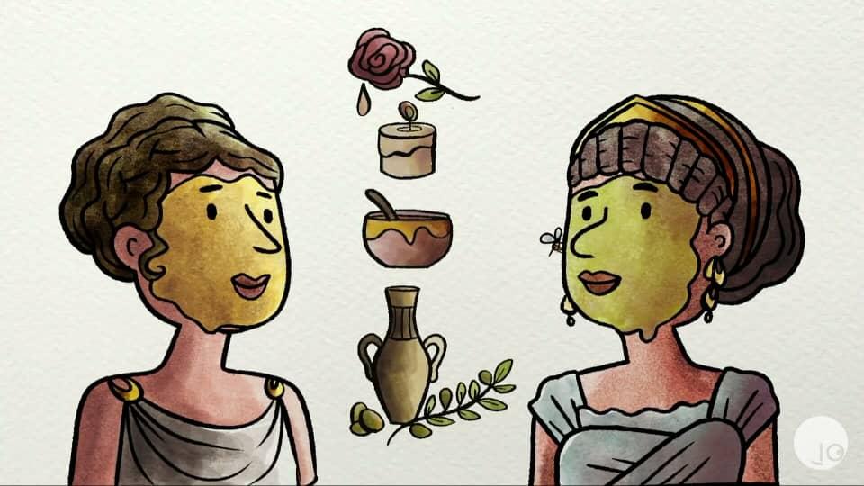 ¿Por qué nos maquillamos? curiosa mente 2020, Kit de bellezas, miel, agua de rosas, cera. cuidados ancestrales.