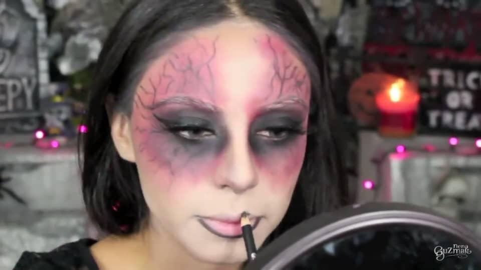 maquillaje de bruja 2020 nena guzman  delineamos los labios