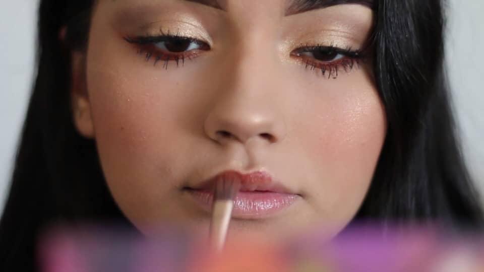 Paulina del Campo Maquillaje para cuando tienes pereza 2020, labial alternativo, sombra, pincel plano.