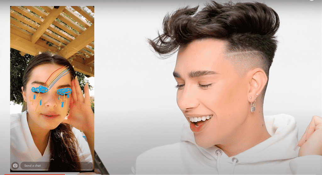 Draw My Makeup: la nueva tendencia de Tik Tok recreada por James Charles