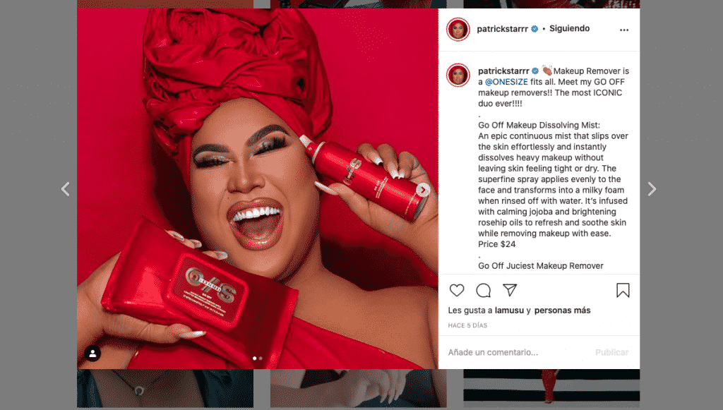 Producto de belleza Patrick Starr Sephora 2020