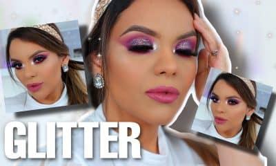 Maquillaje para la noche con glitter tutorial