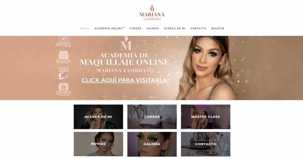 Página web oficial de Mariana Zambrano