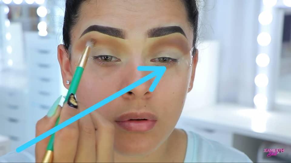 Maquillate como Jasmine facil y rapido Jeamileth Doll 2020, Cinta adhesiva para maquillar los ojos.