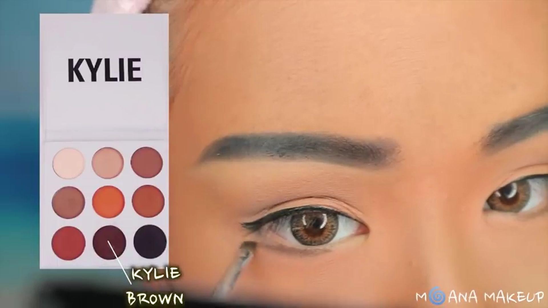 Maquíllate como Moana fukuse yuuriマリリン 2020. sombra marrón por debajo de la linea de agua