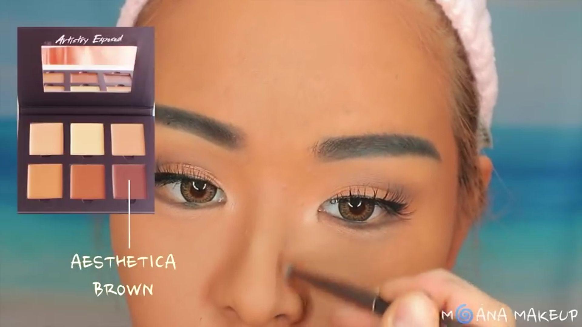 Maquíllate como Moana fukuse yuuriマリリン 2020. sombra marrón para dibujar la nariz