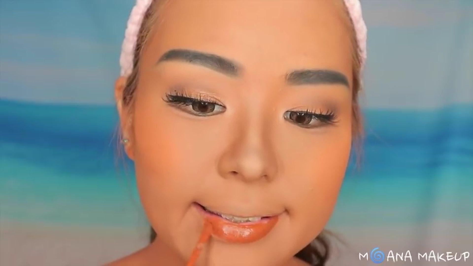 Maquíllate como Moana fukuse yuuriマリリン 2020. labial liquido color ladrillo