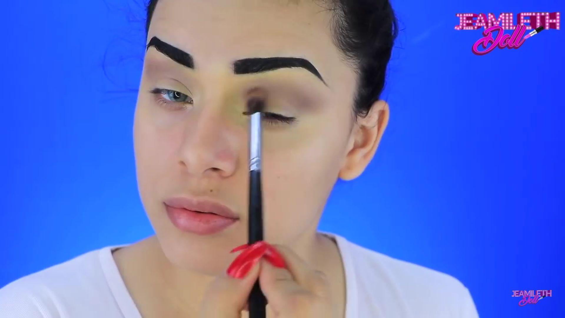 Maquíllate como la mujer maravilla pop art Doll 2020,sombra marrón para la cuenca del ojo