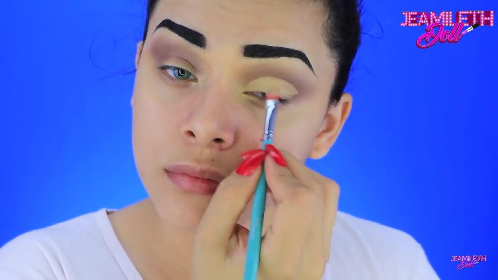 Maquíllate como la mujer maravilla pop art Doll 2020, sombra beige para parpado móvil
