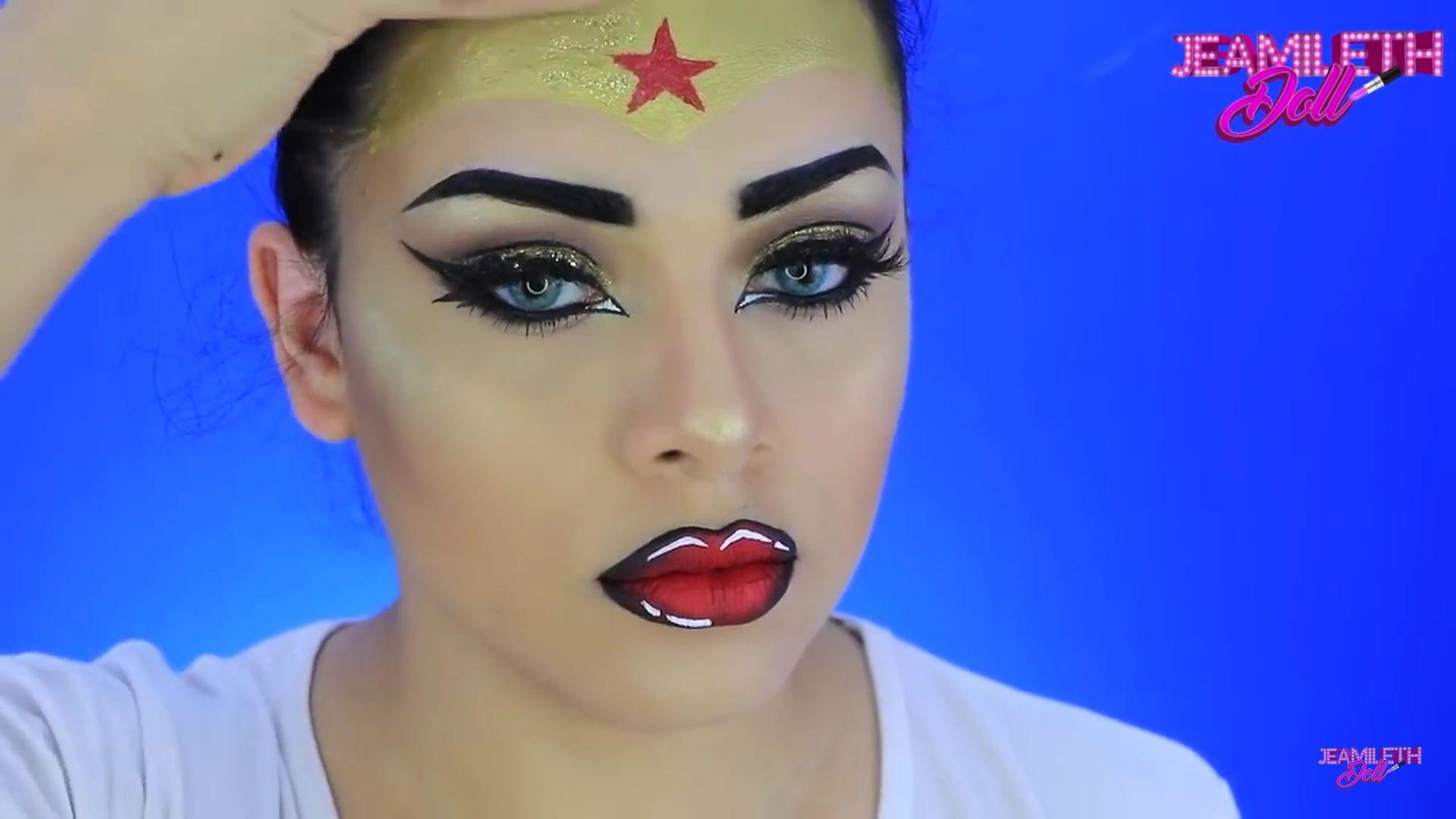 Maquíllate como la mujer maravilla pop art Doll 2020, diadema dorada con estrella