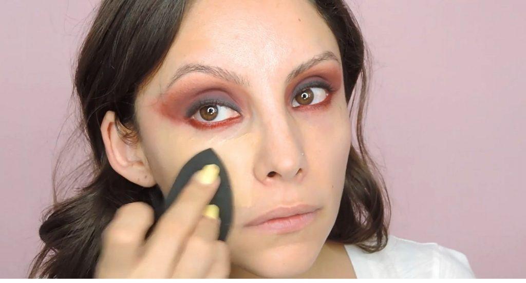 Maquillaje de noche para un vestido rojo Â¡Tutorial! Base