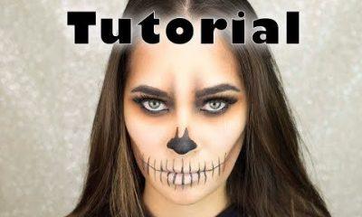 Maquillaje fácil calavera Halloween