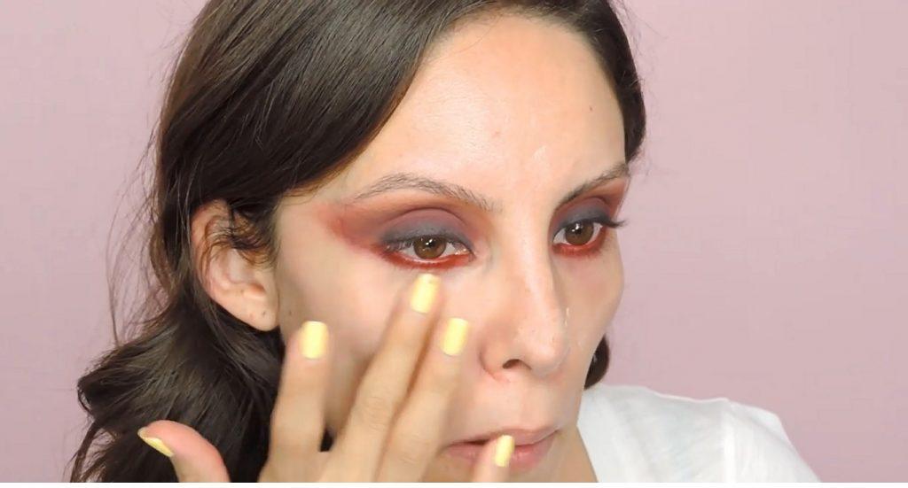 Maquillaje de noche para un vestido rojo Â¡Tutorial! Primer para tapar poros