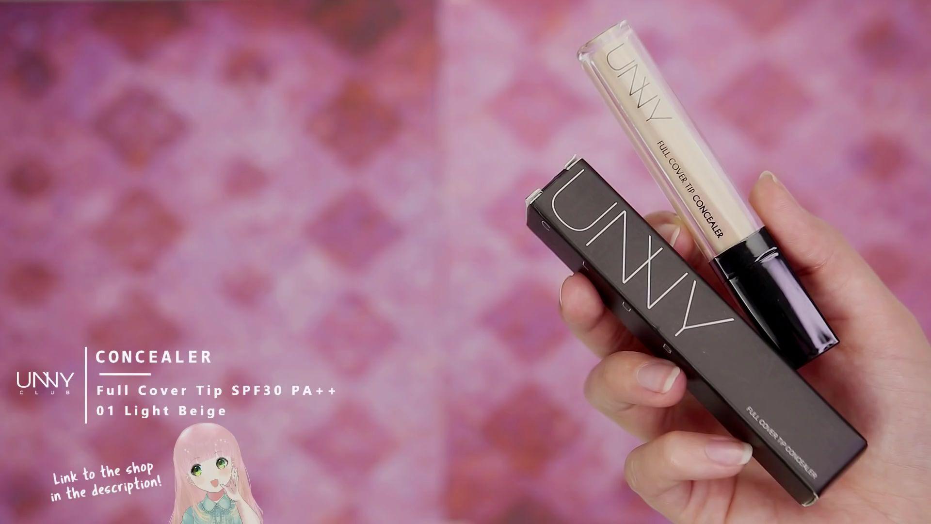 Misa Amane Cosplay DIY en 9 pasos.  Corrector de cobertura completa marca UNVY color 01 light beige.