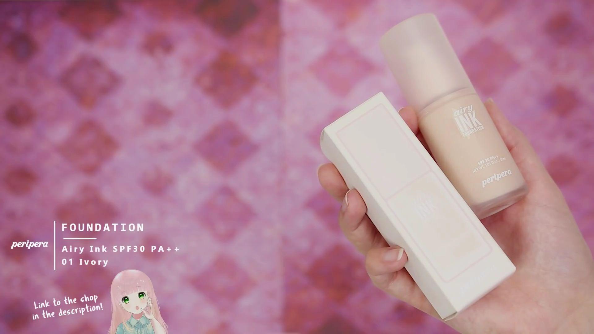 Misa Amane Cosplay DIY en 9 pasos: Base Airy Ink de color 01 Ivory de la marca Peripera