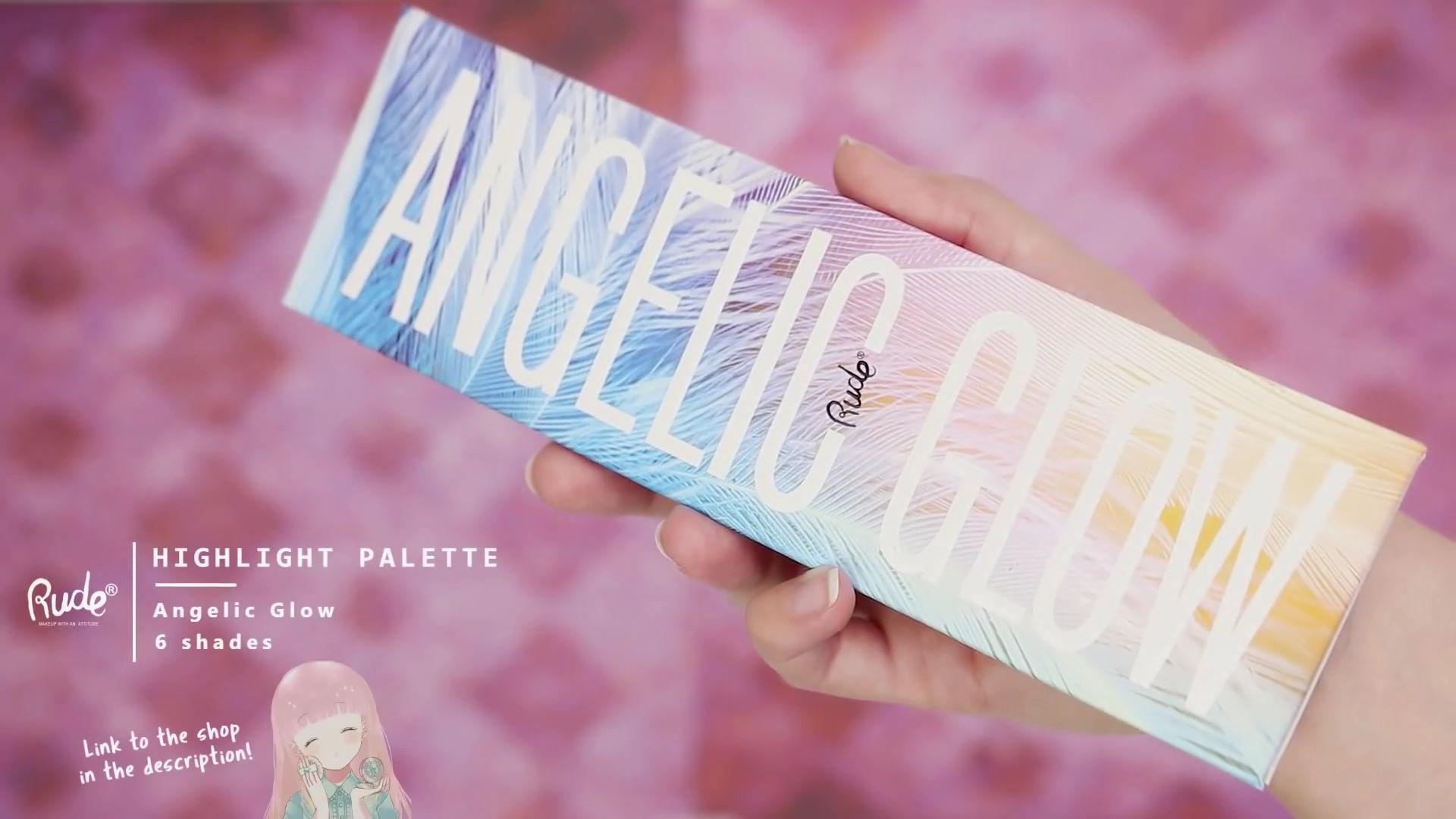 Misa Amane Cosplay DIY en 9 pasos; Highlight palette Angelic Glow 6 shades de la marca Rude.