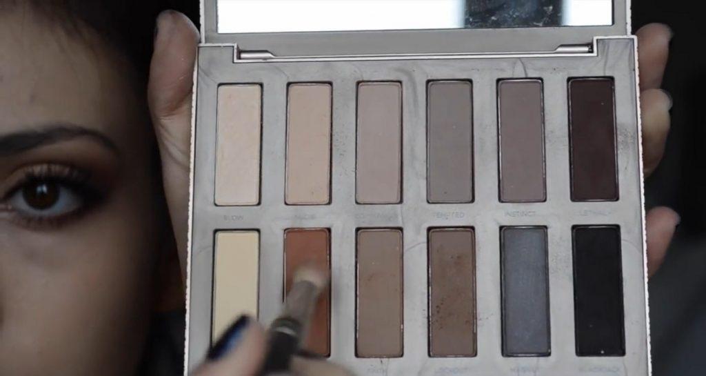 Maquillaje natural para la noche ¡Tutorial! Sombras en tonos café oscuro y naranja