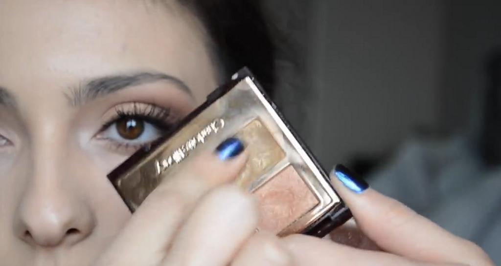 Maquillaje natural para la noche ¡Tutorial! Sombra en tono dorado metalizado