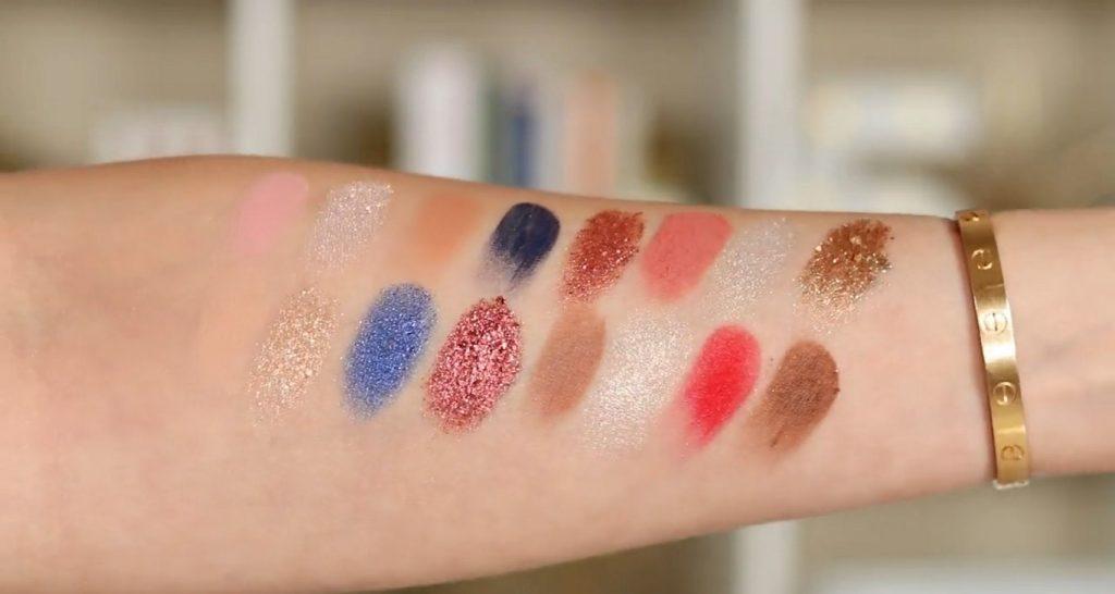 Conoce Sailor Collection, lo nuevo de Kylie Cosmetics, de la mano de Rosy McMichael muestra de colores de la paleta de sombras