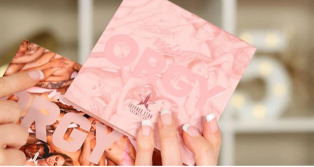 ¡Conoce ORGY! La nueva colección de Jeffree Star de la mano de Rosy McMichael diseño del estuche de sombras mini ORGY