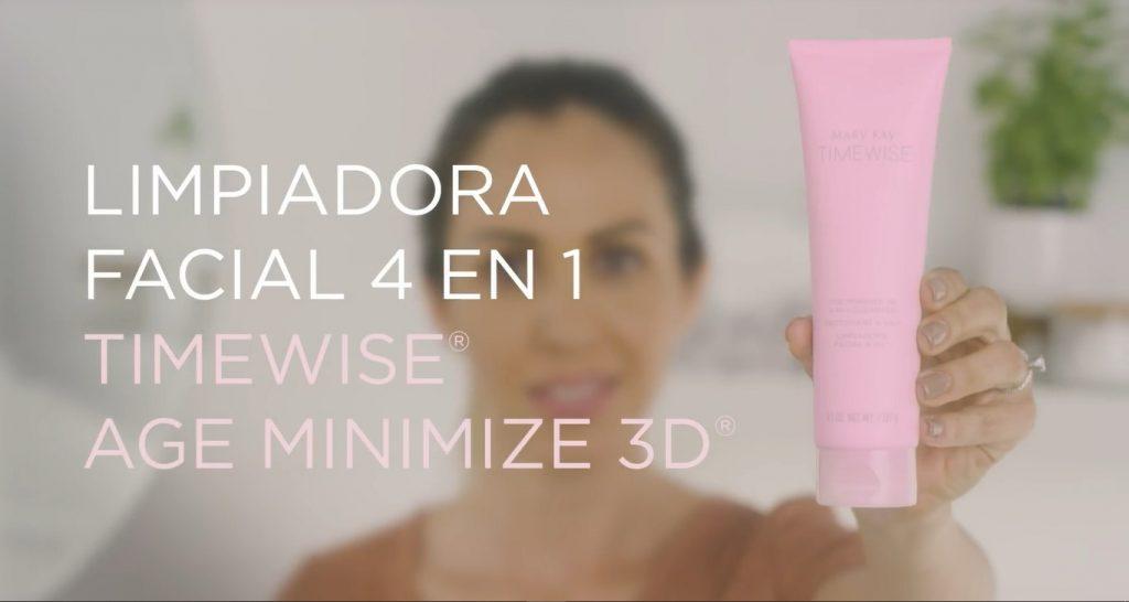 Rutina básica de día Mary Kay, un excelente tratamiento para el cuidado de la piel Limpiadora Facial 4 en 1 TimeWise 3D